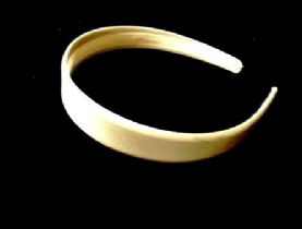 25mm Ivory satin hair band
